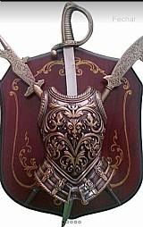 Escudo medieval brasão espada